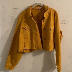 Mustard yellow vintage jacket